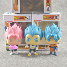 Dragon Ball super Toy Son Goku Action Figure Anime Super Vegeta POP Model Doll Pvc Collection Toys For Children Christmas Gifts(China)