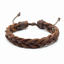 New Arrival Casual Brown Multilayer Rope Handnade Woven Weave Women leather Men Bracelets Male Female Retro Gift Jewelry