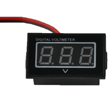 1PCS HOT Red LED Waterproof Monitor 12 Volt Battery Meter 2.5-30V DC Auto Gauge Digital Voltmeter(China)