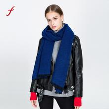 Feitong High Quality Female bandana winter scarf Women Casual Soft Casual Warm Solid Woolen Whisker Tassel Shawl Soft Neck Scarf(China)