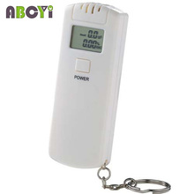 100pcs Hot selling LCD display breathalyzer breath alcohol analyzer keychain car gadget with retail box, Low price! Dropshipping