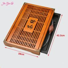 Jia-Gui Luo 43 cm * 28 cm * 5 cm tea tray solid wooden household contracted drainage from the table drawer small mini rectangle
