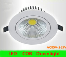 Wholesale 50pcs/lot  led downlights Dimmable COB 5W7W10W high power AC110V-240V Warm white/cold white Round ceiling