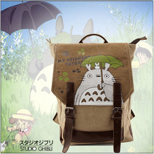 Anime Tonari no Totoro Cosplay  Cartoon canvas male and female student bag backpack