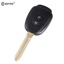 KEYYOU Remote Key Shell Case For Toyota Corolla Camry Reiz New Vios RAV4 Crown 2 Buttons Key Fob Cover