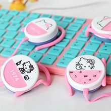 Fashion hello kitty headphone mini ear hook earphones bests headphones for iphone samsung xiaomi mp3 player kids best gifts
