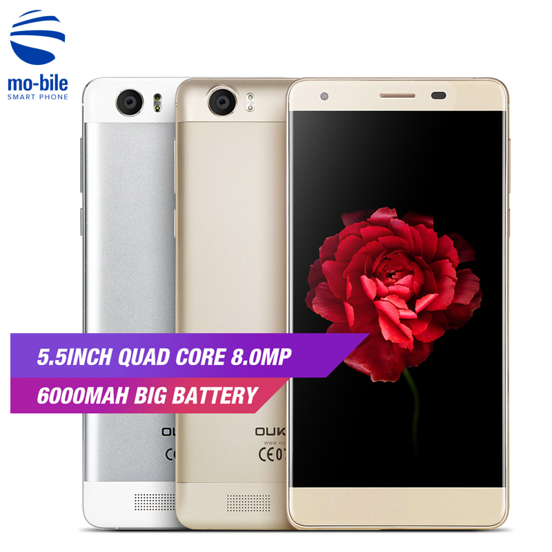 HOT! OUKITEL K6000 4G Android 5.1 Smartphone 5.5 inch 2GB 16GB 8.0MP Mobile Phone MTK6735 6000mAh Quad Core 9V-2A OTG Cellphone(China)