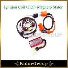 6 Poles Stator Magneto Racing Ignition Coil 6 Pins AC CDI Box For Chinese GY6 50cc Engine Moped Scooter ATV Quad