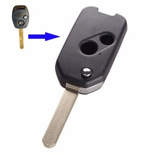 KEYYOU Car Style Modified 2 Buttons Modified Flip Folding Remote Key Shell Case For Accord CRV Odyssey For Honda