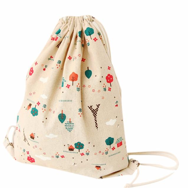 Best Gift Hcandice Drawstring Backpack Women Retro Drawstring Beam Port Backpack Shopping Bag Travel Bag bea61019<br><br>Aliexpress
