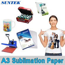 100 Sheets A3 Size Sublimation Paper for 3D Sublimation machine Ink Printer High Transfer Rate Mug,Glass Rock(China)