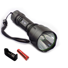 CREE T6  LED Flashlight flash Torch light 2000lm linternas recargable flashlights powerful tactical + 18650 battery+ charger