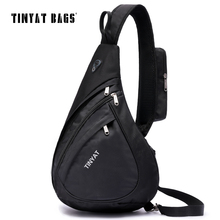 TINYAT Men Casual Chest Bag Pack Functional Crossbody Travel Bag Modern Outside High Capacity Messenger bag Pack Sling Bags T509(China)