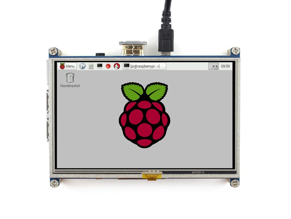 Modules Raspberry Pi LCD Display 5inch 800*480 TFT Resistive Touch Screen HDMI Interface for All Rev of Rapsberry pi(Pi 3) A/A+/<br>