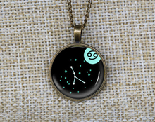 New charm zodiac cancer art pendant constellation astrology necklaces custom picture necklace unisex jewelry gift ideas for guys