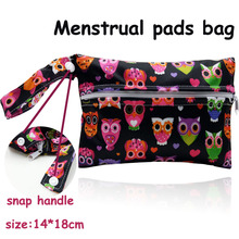 14*18cm Mini size Reusable Wet Bags for Mama Cloth Menstrual Pad,15 designs waterproof bag for nursing pads,sanitary pads holder