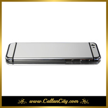 "For iPhone 6 plus 5.5"" platinum sliver mirror limited plated housing cover chassis middle frame replacement free shipping"
