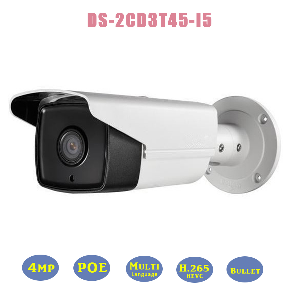 DS-2CD3T45-I5 Full HD 4mp Outdoor POE Security IP Camera Onvif Bullet IR 50M Network Cam IP66 Weatherproof For CCTV Surveillance<br><br>Aliexpress