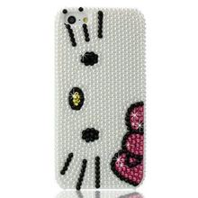 High Quality Bling Bling Bowknot Rhinestones Hello Kitty Custom Cases for samsung s8 plus case