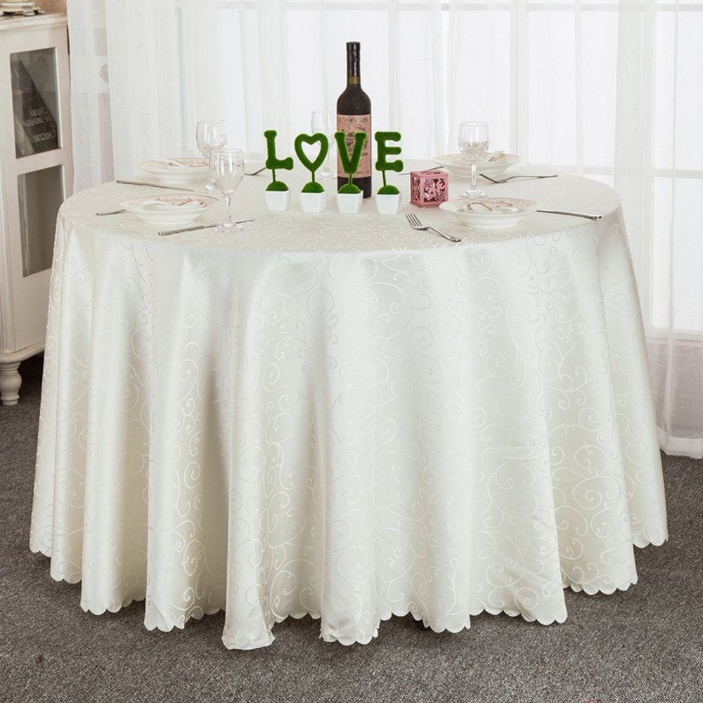 1pcs Jacquard Round Tablecloth Navy Blue/Coffee/Burgundy For Wedding Party  Decorations(China