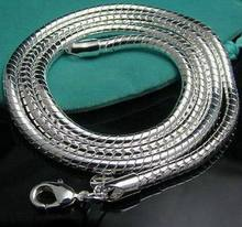 "Fashion 3mm Silver Snake Chain Necklace,925 Jewelry Silver Plated Necklaces Chains 16""-24"" Wholesale!(China)"