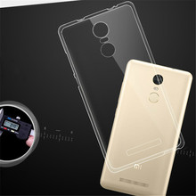 Newest Ultra-thin Clear Crystal Soft Cover Transparent TPU Case for Xiaomi Redmi Note Note 2 Note 3 Note 4 Cheap Cover Accessory