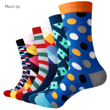 Match-Up Men's colorful combed cotton socks wedding gift socks (6pairs/lot )(China (Mainland))