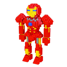 Cheapest Price!!! Ironman Design, Weagle The Averngers Mini Diamond Blocks, Wisehawk Blocks, DIY Nano Bricks, Gifts for Children(China)