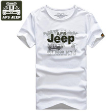 AFS JEEP Brand T shirt Men t-shirt Print Summer Shirt Men O-Neck Army t shirt Male Camisa Masculina Fashion Fitness Outwear(China)