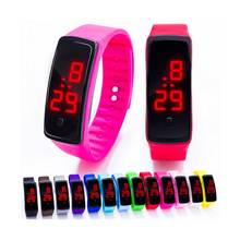 Fashion Personality movement red led watches Silicone Bracelet LED Digital Girls children Women Sports WristWatch