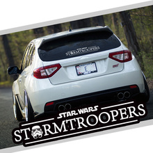 Star Wars Stormtroopers Darth Vader Ho Skywalker Vinyl Black & White Reflective Car Auto Decal Window Body Sticker Car-Styling