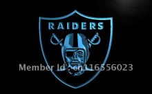 LD053- Oakland Raiders Football Bar   LED Neon Light Sign     home decor shop crafts