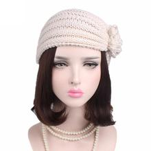 MUQGEW Solid Color Casual New Creative Women Ladies Women Ladies Boho Knitting Cancer Hat Beanie Scarf Turban Head Wrap Cap(China)