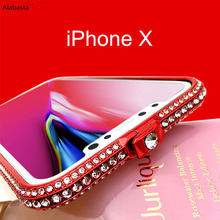 Buy Alabasta iphone X Bling Diamond Luxury rhinestone Glitter Aluminum Metal Bumper Case Prismatic Shape Frame Anti-crash Cover for $7.32 in AliExpress store