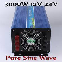 3000W Solar Wind Power System Inverter 12V 24VDC to AC220V or 110V with 6000W Surge Power,Pure Sine Wave 3000W off grid Inverter