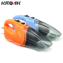 12V 120W Car Vacuum Cleaner Wet And Dry Dual Use Auto Cigarette Lighter Hepa Filter Orange Blue With 16FT Cord 5 Meter