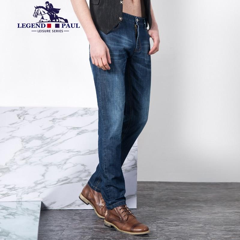 Legend Paul Brand  2017 mens busines high quality jeans men cotton top male denim pants casual men long jeans male trousersÎäåæäà è àêñåññóàðû<br><br>