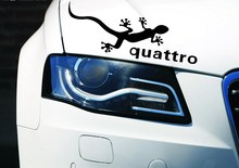 2 Colors Gecko Quattro Car Stickers Reflective Lamp Eyebrow Light Brow Car Styling For Ford Focus Chevrolet Cruze 2PCS/LOT