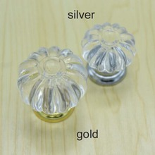 Free shipping diameter 34mm Clear Crystal drawer knobs kitchen cabinet handles dresser wardrobe bedside table pulls knob