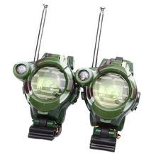 2pcs Electronic Walkie Talkies Watches Toys Portable Two-Way Radio Intercom Outdoor Camouflage Interactive Educational(China)