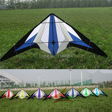 free shipping high quality1.8m seven sword dual line stunt kite flying with handle line outdoor toys weifang albatross kite toys(China)