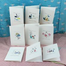 (9 pieces/lot)Korean Hot Selling Cartoon Diy Handmade with Envelop Best Wishes Message Paper Card Birthday Gift Greeting Cards