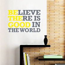 Believe there is good Subway Creative Vinyl Decor Wall Lettering Words Inspirational Quotes Decal Art Sticker Free Shipping c200