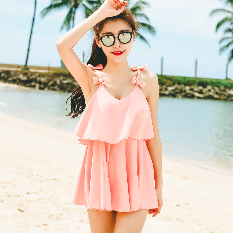 One Piece Swimsuit Plavky Girls Womens Swim Suit Wear One-Piece 2017 Sexy Suits Cheap Lady New Brand Adult Pure Color Cute Damy<br>