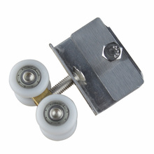 free shipping door roller ultra-quiet wooden furniture sliding door pulley hanging track nylon wheel glass bearing door hardware(China)