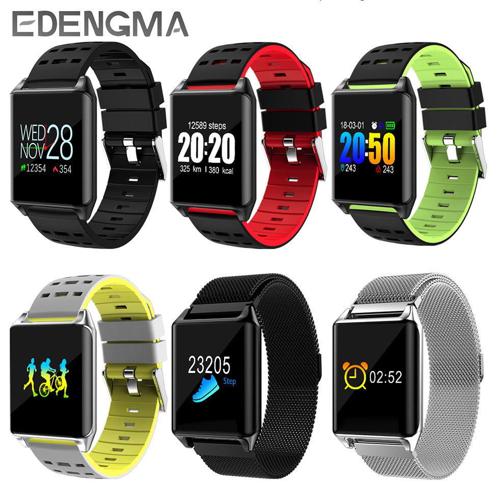EDENGMA fashion smart wristband R11S HD 0.96 touch screen fitness sports goal setting pedometer cycling calorie Bluetooth watch