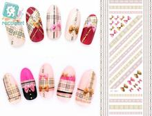 Rocooart DS007 Water Transfer Foils Nail Art Sticker Harajuku Pink Bowkonts Element Nail Wraps Decals Manicure Decor Styling