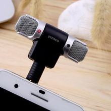 Portable 1pc  Mini Stereo Microphone Mic 3.5mm Mini Jack PC Laptop Notebook Worldwide Hot Drop