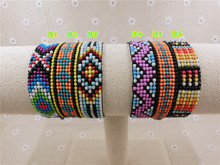 AMIU Friendship Handmade Bracelet Hippy 7row Seed Beads Friendship Bracelet Rope String Beads For Jewelry Making For Women Men