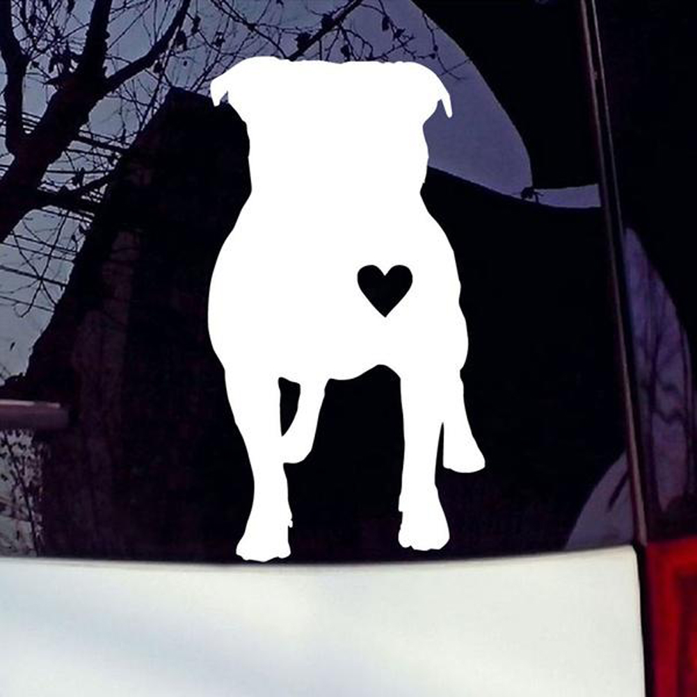 Pit bull I Love My Dog STICKERS Heart Puppies Pets Animal DECAL VINYL BUMPER Car